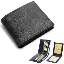 BABAMA Men's Wallets Top Quality <b>Army Camo Leather</b> Bifold ...