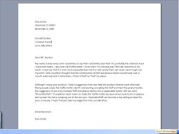 business letter sample format formal business  horizontall cobusiness