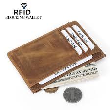 <b>Weduoduo New Men</b> Card Holder 100% Genuine Leather ...