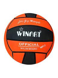 <b>Мяч для водного поло</b> №5 оранжевый/черный WinArt 8508883 в ...