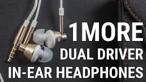 <b>1MORE DUAL DRIVER</b> IN-EAR <b>HEADPHONES</b> распаковка и ...