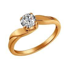 <b>Позолоченное кольцо</b> для помолвки от <b>SOKOLOV</b> арт. 93010021