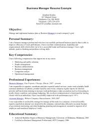 example business resume template example business resume