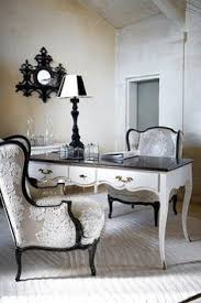 black and white desk chair i love this look with red walls black and white home office