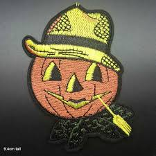 <b>Halloween Pumpkin Witch</b> Cat Iron on Embroidered Cloth Patch For ...