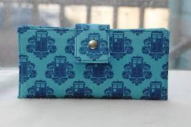 Tardis in blue <b>handmade</b> wallet clutch, via Etsy. WANT!!!   Wallets for ...