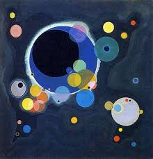 """Description of the painting by <b>Wassily Kandinsky</b> """"A few circles ..."""