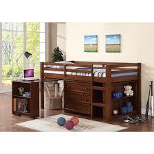 wood low loft bunk bed for kids with trundle desk and dresser underneath bunk beds kids dresser