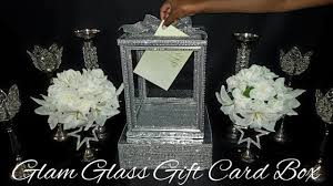 《<b>DIY</b>》Dollar Tree Glam Glass <b>Wedding Gift Card</b> Box - YouTube