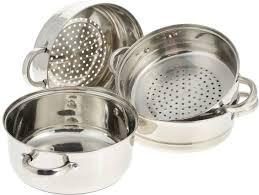<b>Кастрюля пароварка</b> для плиты: виды и критерии выбора