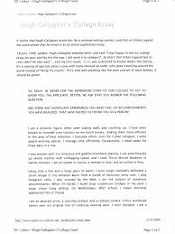 hugh gallagher college essay writing hugh gallagher s college essay