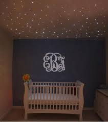 baby girl nursery with stars overhead fiber optic ceiling lighting baby room lighting ceiling