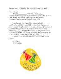 sample letter for teacher birthday teacher gift ideas sample letter for teacher birthday