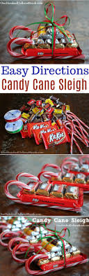 Easy Kids Christmas Candy Crafts – Candy Cane Sleigh - One ...