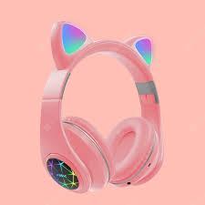 <b>LEEHUR</b> Cute Cat Headphone Bluetooth Wireless Headset With ...