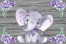 <b>Laeacco</b> Royal Purple Elephant Backdrop 5x3ft <b>Wooden</b> ...