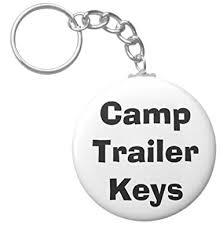 """A&T Designs Camp <b>Trailer</b> Keys 2.25"""" <b>Keychain RV Camping</b> ..."""