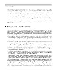front matter performance measures and targets for transportation page r11