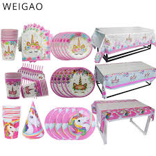 WEIGAO Happy <b>Birthday Party</b> Lunch <b>Disposable</b> Tableware Sets ...