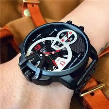 ORIGINAL   <b>WEIDE Men's</b> big dial watch tide male hip hop watch ...