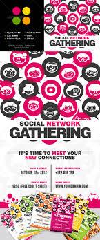 social network gathering flyer seasons fonts and artworks social network gathering flyer graphicriver item for