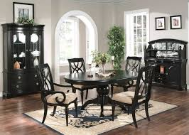 black dining room furniture black wood dining room