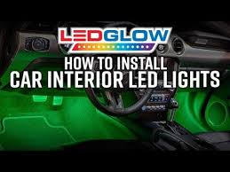 LEDGlow | How To Install <b>Car Interior LED Lights</b> - YouTube