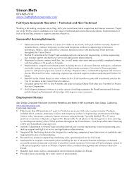 college recruiter resumes template college recruiter resumes
