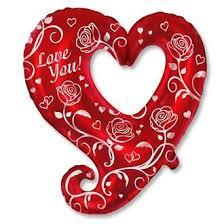 """<b>Шар</b> сердце с розами """"I <b>Love</b> You"""""""