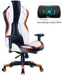 HEALGEN Gaming Chair Racing Style <b>High</b>-Back <b>PU Leather</b> Office ...