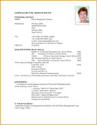 resume format pdf for students south africa letter resume format pdf for students south africa