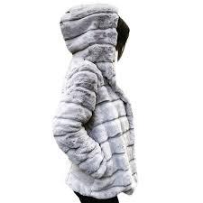 JAYCOSIN <b>S</b>-<b>3XL Women</b> Polyester Mink Coats Winter <b>Hooded</b> ...