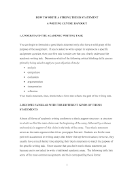 Writing A ThesisWorld of Writings World of Writings How to Write a Strong Thesis Statement by jess ca