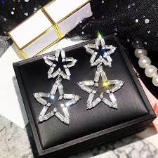 <b>Luxury</b> Big Star Drop <b>Earrings</b> For Women 2020 New Rhinestone ...