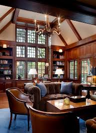 brown velvet sofa home office traditional with dark wood beams blue rug blue brown home office