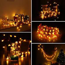 Home Lighting 20 <b>LED Cotton Ball String</b> Light 3.3m Warm White ...