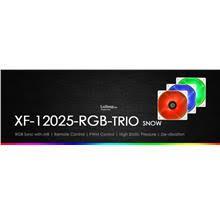 <b>ID</b>-<b>COOLING XF</b>-<b>12025 RGB</b> Case Fan <b>Trio</b> Set # Snow Edition