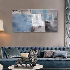 SDYA Blue Abstract Wall Art Hand Painted Oil ... - Amazon.com