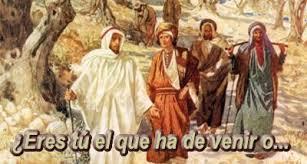 Resultado de imagen para En aquel tiempo, Juan envió a dos de sus discípulos a preguntar al Señor: «¿Eres tú el que ha de venir, o tenemos que esperar a otro?»