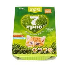 Травка для кошек <b>Альпийские Луга 7</b> трав (лоток) - Ветеринарная ...