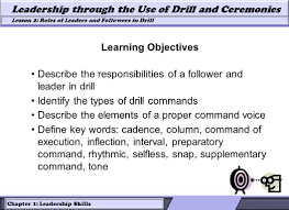 lesson 2 roles of leaders and followers in drill leadership 7 chapter