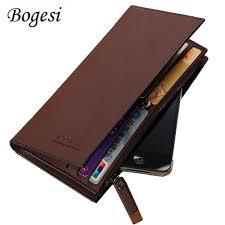 Long <b>Luxury</b> Portfolio Leather <b>Men</b> Wallet <b>Male</b> Clutch Coin Purse ...