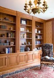 custom made library bookshelves in home office by artisan woodworking on custommadecom custommade custom office