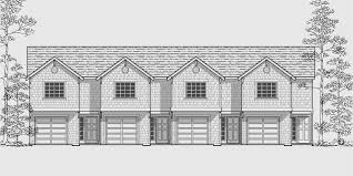 Multifamily House Plans  Reverse Living House Plans  D  House front drawing elevation view for D  Multifamily house plans  reverse living house