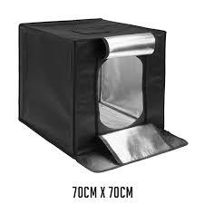 Easy fold <b>LED light</b> tent package <b>70cm</b> cube