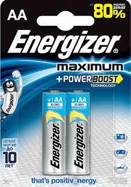 "<b>Батарейка Energizer</b> ""Maximum"", тип AA, 1,5V, <b>2 шт</b> — купить в ..."
