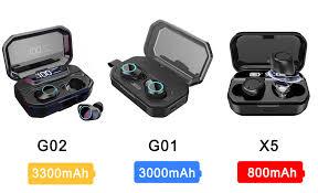 G02 <b>TWS</b> 5.0 Bluetooth 9D Stereo Earphone <b>Wireless Earphones</b> ...