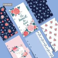 Yiwi <b>Never Stationery Rose</b> Standard Six Hole Notebook Handbook ...