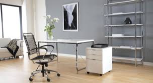 simple home office decorating ideas with dark brown varnished modern design white lacquer solid wood desk adorable simple home office decorating ideas