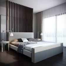 apartment bedroom with white bed frame and unique bedside swing table lamp and brown mattress and bedside lighting ideas